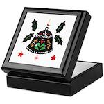 Folk Art Christmas Bell Keepsake Box