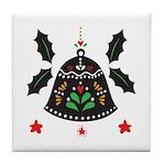 Folk Art Christmas Bell Tile Coaster