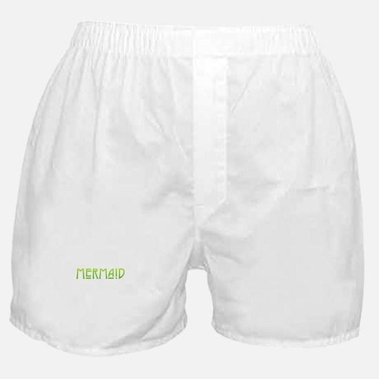 Mermaid - Green Boxer Shorts