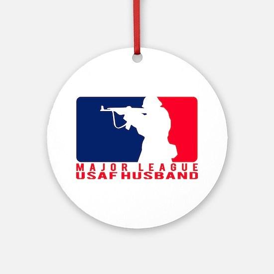 Major League Husband 2 - USAF Ornament (Round)