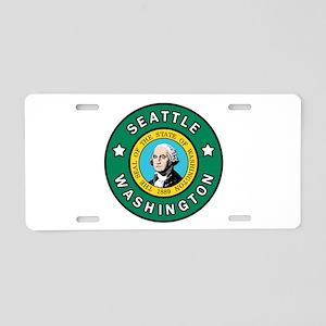 Seattle Washington Aluminum License Plate