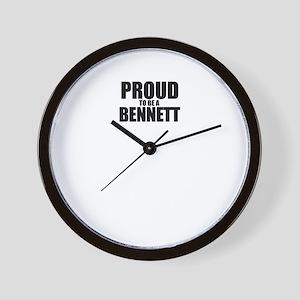 Proud to be BENNETT Wall Clock