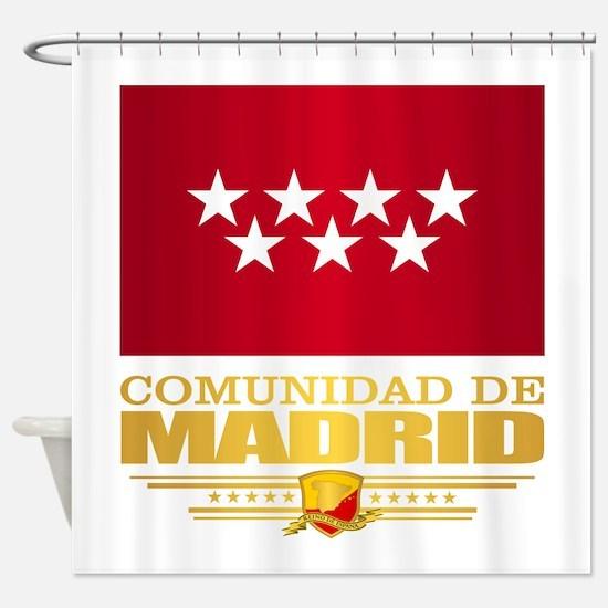 Madrid Flag Shower Curtain
