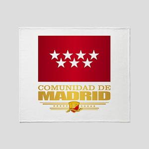 Madrid Flag Throw Blanket
