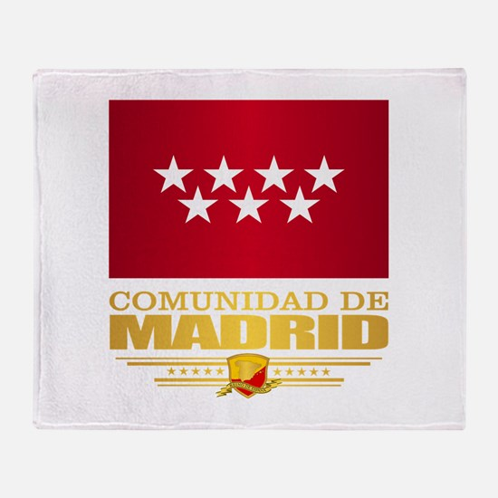 Madrid Flag Throw Blanket