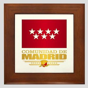 Madrid Flag Framed Tile