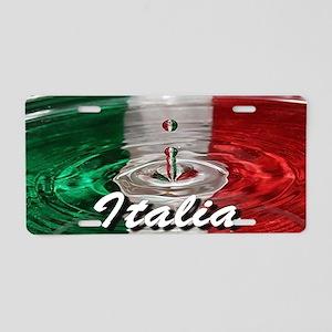 Italian water ripple effect flag Aluminum License