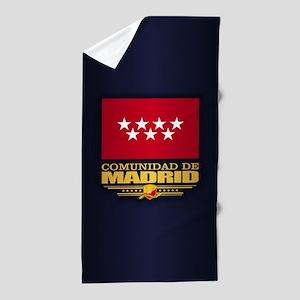 Madrid Flag Beach Towel