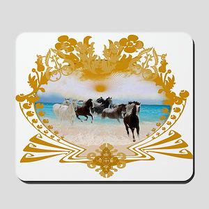 Wild Ponies Vintage Surf Mousepad