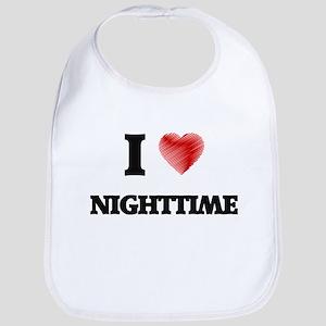 I Love Nighttime Bib