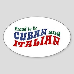 Cuban Italian Oval Sticker