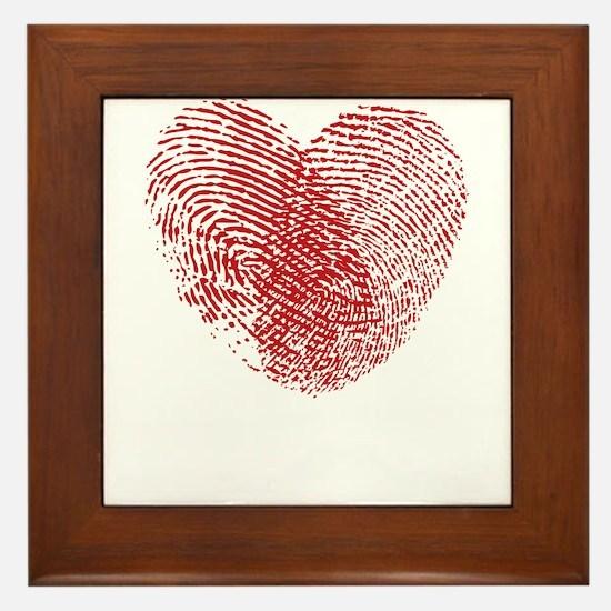 Cute Fingerprint Framed Tile