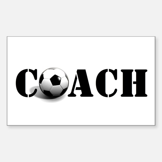 coach (soccer) Rectangle Decal