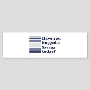 Hugged Savana Bumper Sticker