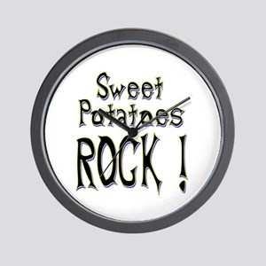 Sweet Potatoes Rock ! Wall Clock
