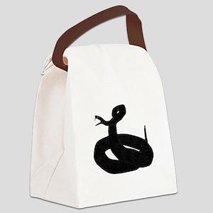 Black Snake Canvas Lunch Bag