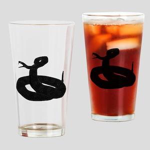 Black Snake Drinking Glass