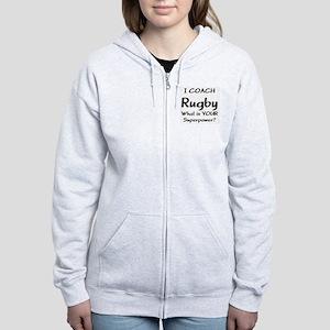 rugby coach Women's Zip Hoodie
