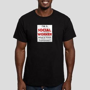 social worker Men's Fitted T-Shirt (dark)