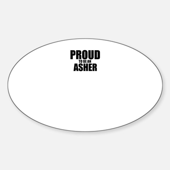 Proud to be ASHER Decal