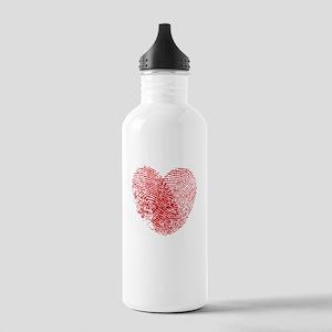 Fingerprint Heart Stainless Water Bottle 1.0L