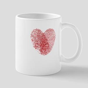 Fingerprint Heart Mugs