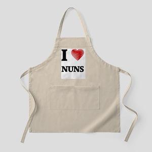 I Love Nuns Apron