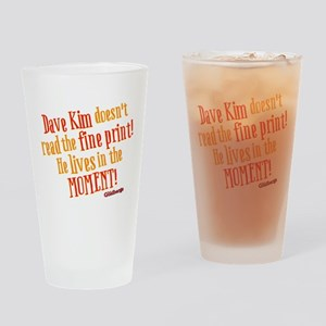 Dave Kim Fine Print Goldbergs Drinking Glass