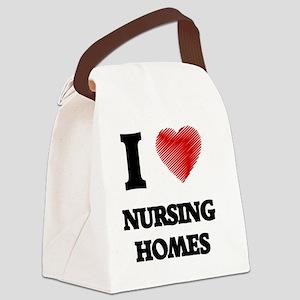 I Love Nursing Homes Canvas Lunch Bag