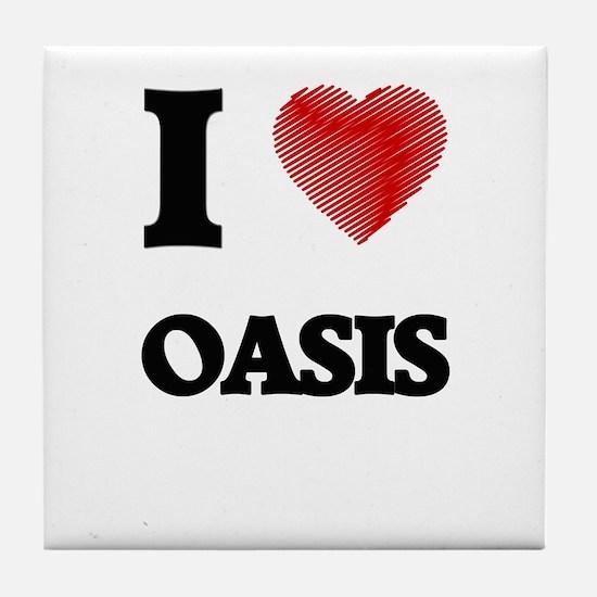 I Love Oasis Tile Coaster