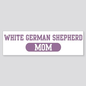 White German Shepherd Mom Bumper Sticker
