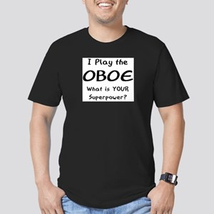 play oboe Men's Fitted T-Shirt (dark)