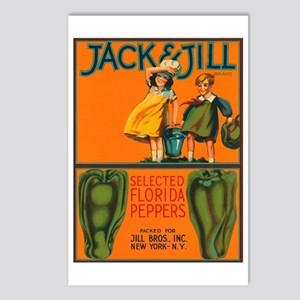 Vintage Jack and Jill Peppers Postcards (Package o