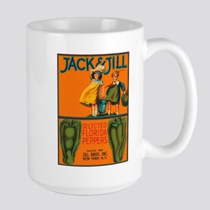 Vintage Jack and Jill Peppers Large Mug
