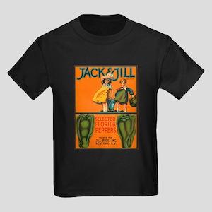 Vintage Jack and Jill Peppers Kids Dark T-Shirt