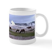 Elk at Old Faithful Yellowstone Mug
