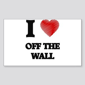 I Love Off-The-Wall Sticker