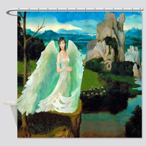 Angel Castle Fantasy Art Shower Curtain