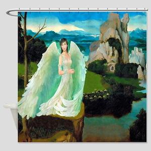 Angel Castle Fantasy Art Shower Curtain