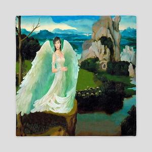 Angel Castle Fantasy Art Queen Duvet