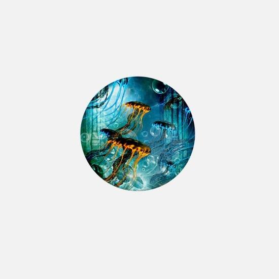 Awesome jellyfish Mini Button