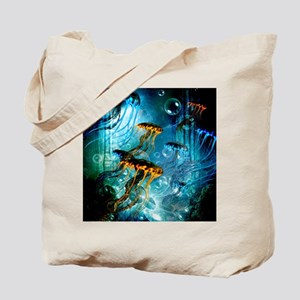 Awesome jellyfish Tote Bag