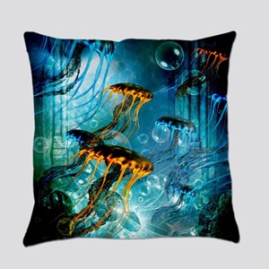 Awesome jellyfish Everyday Pillow