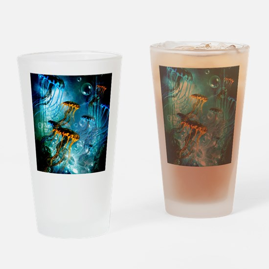 Awesome jellyfish Drinking Glass