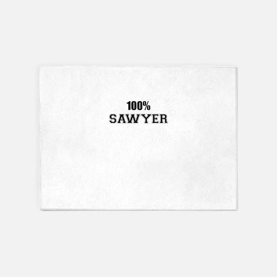 100% SAWYER 5'x7'Area Rug