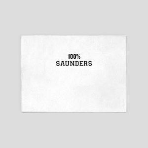 100% SAUNDERS 5'x7'Area Rug
