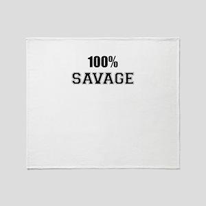 100% SAVAGE Throw Blanket