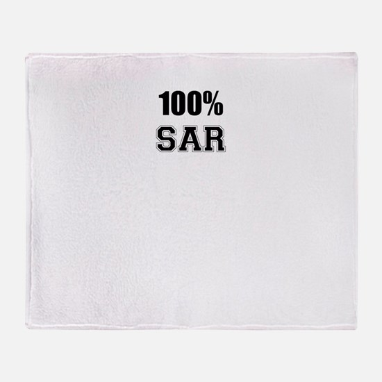 100% SAR Throw Blanket