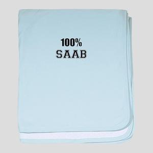 100% SAAB baby blanket
