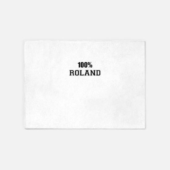 100% ROLAND 5'x7'Area Rug